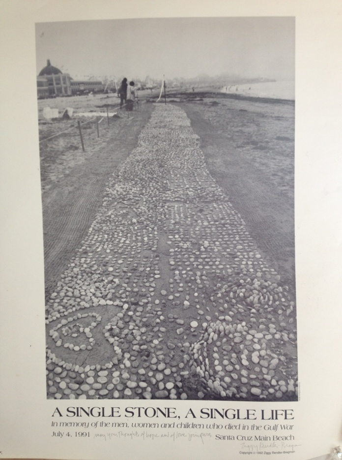 installation on Main Beach Santa Cruz July 4, 1992